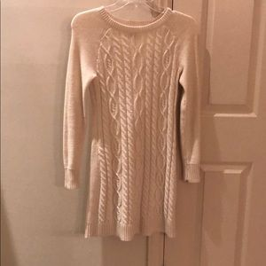 Women White Sweater Dress
